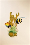 Metal Art Wall Hanging - Tropical Fish - #33450